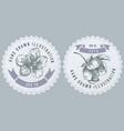 monochrome labes with sakura vector image