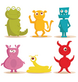 monsters cartoons vector image vector image