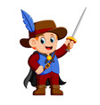 musketeer with sword vector image vector image