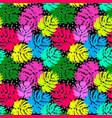 palm leaves summer funky seamless pattern vector image
