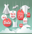 paper cut out sale tags discount poster design vector image vector image
