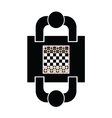 play chess icon with two man vector image