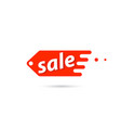 price tag of sales on a white background vector image vector image