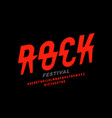 rock music festival style font design alphabet vector image vector image