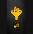 sales funnel icon internet marketing conversion vector image