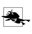 scuba diver vector image vector image