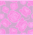 seamless floral mosaic pattern with pink roses on vector image vector image