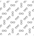 seamless linear glasses pattern or texture vector image vector image