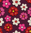 Seamless pattern of button flowers vector image vector image
