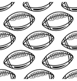 Seamless pattern with outline rugby balls vector image