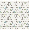 seamless texture of hand-painted triangles vector image vector image