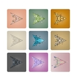 Set cursors of triangles vector image