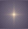 set glowing stars vector image vector image