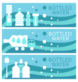 Set of banners for theme bottled water flat design vector image vector image