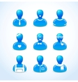 set of humans icons vector image vector image