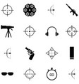 shooting range icon set vector image vector image