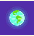 simple flat style of planet Earth vector image vector image