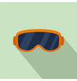 ski glasses icon flat style vector image