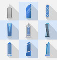 skyscrapers set of isolated icons vector image