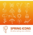 spring outline icons vector image vector image