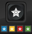 Star icon symbol Set of five colorful stylish vector image
