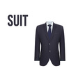 Suit isolated on white background vector image vector image