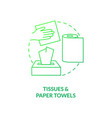 tissues and paper towels concept icon vector image