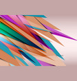 transparent colors spiked background vector image vector image