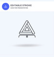 Triangle icon filled flat sign solid