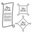 vintage rope border frame in vector image