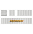 white cargo container vector image