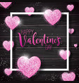 happy valentines day with pink vector image