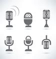 microphones set vector image