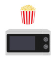 Microwave and popcorn vector image