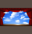 stage with cloudscape vector image