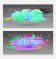 abstract designs in glitch style trendy vector image