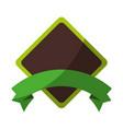 rhombus frame icon vector image