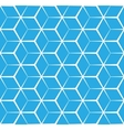 Abstract cubic blue background seamless pattern vector image vector image