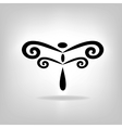 Abstract design dragonfly vector image vector image