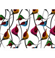 african wax print fabric ethnic floral motifs vector image vector image