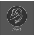 aries astrological zodiac symbol horoscope sign vector image vector image