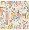 Background with ice cream and bonbons vector image vector image