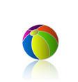 ball beach holiday icon vector image vector image