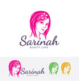 beauty salon logo design vector image vector image