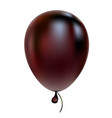 black helium balloon birthday baloon flying for vector image vector image