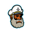 black sea captain or skipper mascot vector image vector image