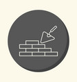 brick masonry and trowel for brickwork vector image
