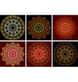 bright ornamental elements on dark backgrounds vector image