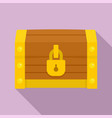 chest dower icon flat style vector image vector image