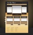 classy-look restaurant website design vector image